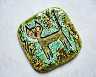 The Unusual - Stray Cat In The Woods Ceramic Pendant