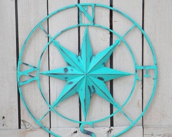 ON SALE Wall Compass / Compass Rose / Metal Nautical Compass / Indoor / Outdoor Nautical Sign