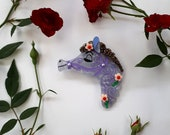 Field Day Pony (Bluebell Edition) Wearable Art Brooch by Winnifreds Daughter