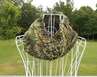Mens Camo Cowl, camoflauge neck warmers, Great for hunting season
