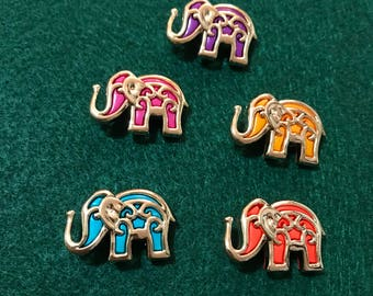 Boollywood Elephants  Buttons / Sewing supplies / DIY craft supplies / Novelty Buttons / Party Supplies /