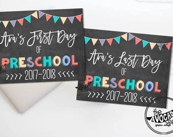 Back to School Printables for First Day of School and Last Day of School - DIY Printing