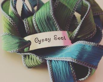 Gypsy soul, 100% Silk Wrap Bracelet