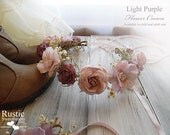 Light Purple Flower Crown ~ Bridal Flower Crown ~ Bride, Bridesmaid, Flowergirl ~ Available in Child and Adult Size.