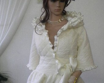 Unique, beautiful and stylish white coat