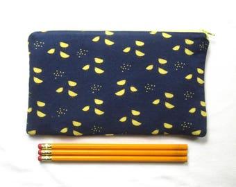 Cute Chicks Fabric Zipper Pouch / Pencil Case / Make Up Bag / Gadget Sack