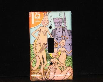 Sea Monkey Comic Book Light Switch Cover Plate Wallplate Monkies