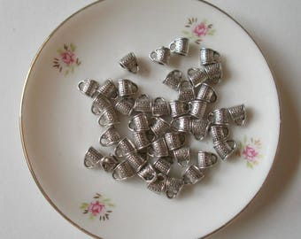 50 bails leather antique silver Tibetan style round 2mm