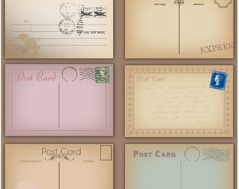 BACK TO SCHOOL Sale Vintage Postcards Clipart Clip Art Postcards Clipart Clip Art - Commercial use