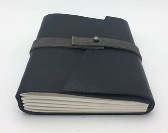 Small Black Leather Journal / Sketchbook