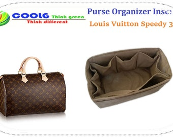 Louis Vuitton Speedy 35 Purse Organizer Insert Practical and Easy to Use  / made to order / Beige Faux Suede
