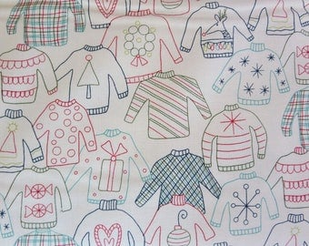 Ugly Sweater Fabric - One Week Sale - Moda - Eat Drink And Be Merry Fabric  - Sandy Gervais Christmas - 1792113
