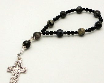 Llanite One-Week Anglican Chaplet with Sterling Silver Cross