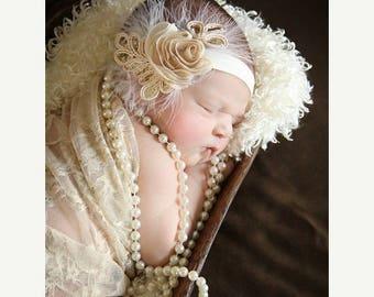 10% SALE Shop BEST Seller, Baby headband, newborn headband, adult headband, photography prop The single sprinkled- SMALL Leaf rosie headband