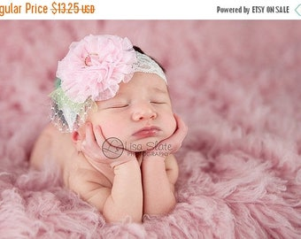 10% SALE Baby headband, newborn headband, adult headband, child headband and photography prop The single sprinkled- Maggie lace  headband