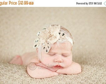 12% off Baby headband, newborn headband, adult headband, child headband and photography prop NEW BEST SELLER Three Rosie chiffon headband