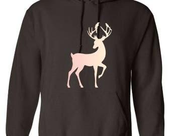Deer Hoodie | Custom Hoodie | Hooded Sweatshirt | Custom Sweatshirt | Personalized Hoodie |Gildan Heavy Blend | Gift | Sweats | hunting