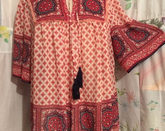 LARGE, Blouse Bohemian Hippie Flowerchild Lightweight Top
