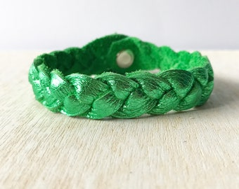 Braided leather bracelet - Lucky