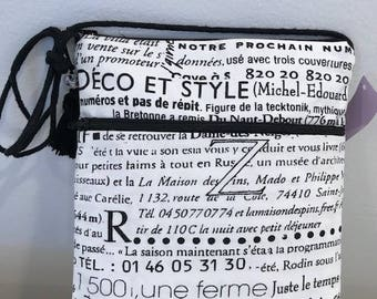 Newsprint crossbody