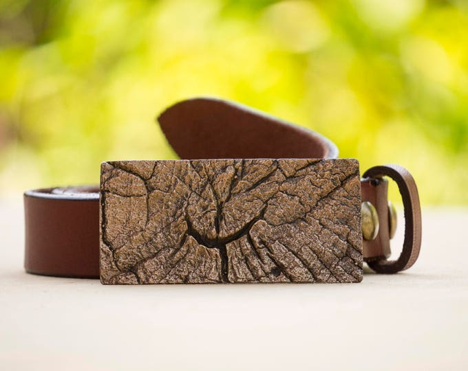 "Tree Rings 1.5"" Bronze Belt Buckle"
