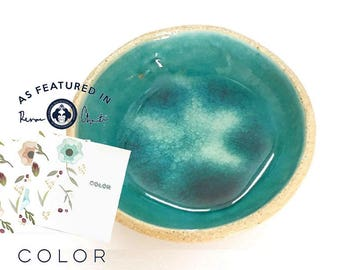 Ring holder dish - Mediterranean Sea dreams collection - Ring holder - Turquoise  Ceramics