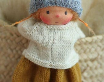 """Reserved for Julia-Waldorf doll, Soft doll, Knitted doll Lolita 14"""", rag doll, handmade doll by Peperuda dolls"""