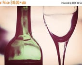 "Kitchen Art: Wine Art abstract wine glass and bottle ""in vino veritas"" Fine Art Still life Photography Dining room print Wine Art Print"