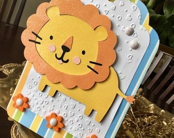 Cheerful Lion Extra Large Gift Tag