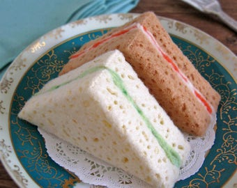 NEW Felt Food Tea Sandwiches