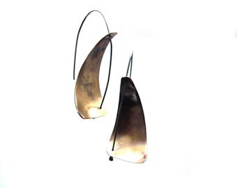 Brass Angular Earrings