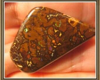 Koroit Boulder Opal cabochon, 33x20x6 mm, 36.40 cts.