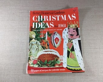 Vintage Better Homes & Gardens Christmas Ideas for 1961 Magazine Crafts Recipes