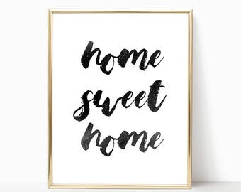 SALE -50% Home Sweet Home Digital Print Instant Art INSTANT DOWNLOAD Printable Wall Decor