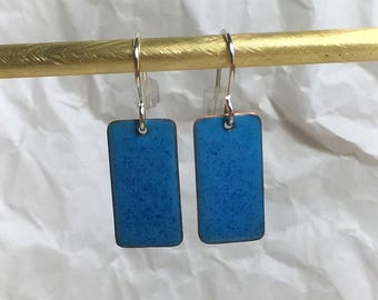 French blue earrings hand made simple colorful earrings