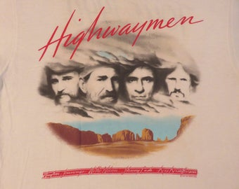 Vintage THE HIGHWAYMEN 1990 Tour T SHIRT concert tee Johnny Cash Waylon Jennings Willie Nelson