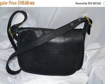 Sizzling Summer Sale Coach Bonnie Cashin Bag Patricia's Legacy  Excellent ~Fits Ipad Perfectly~Black Leather