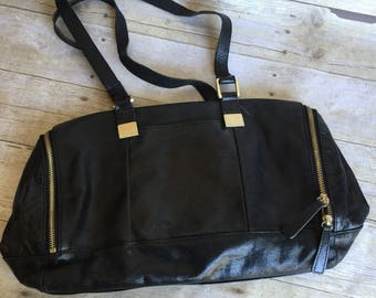 Vintage Black Leather Purse - HOBO