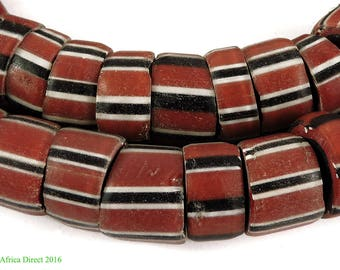 Striped Greenhearts Venetian Trade Beads Africa Loose 105684