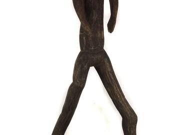 Sukuma Dancer Figure Articulating Arms Tanzania African Art 5 Feet 117506