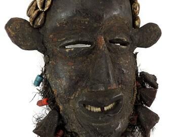 Dan Mask Beard Amulets Liberia African Art 113809