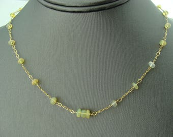 Ethiopian Welo Opal 14K Gold Filled Necklace