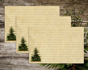 Vintage Style Old Fashioned Antique Pine Tree Recipe Cards from Curious London