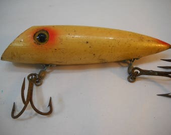 """Vintage Wooden Fishing Lure Salmon Plug 5.5"""" Hansen Martin  FREE SHIPPING"""