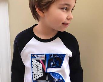 New Custom Star Wars Number T'shirt with custom name