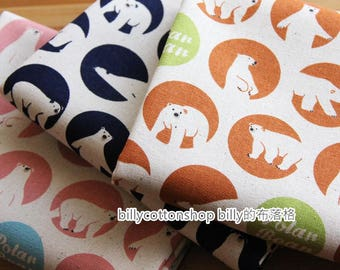 m309_55 - Polar bear fabrics  - cotton linen fabrics - Half Yard ( 3 color )