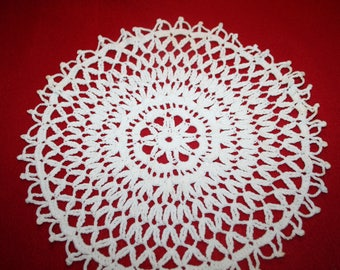 Vintage Hand Crocheted Doily- 10.5 inch