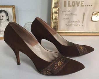 Chocolate Brown 1950s heels