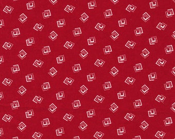 Sophisticates Red Geometric cotton quilting fabric - 120-12962 - by Ro Gregg for Paintbrush Studio Fabri-Quilt