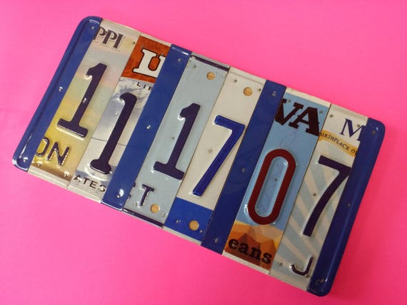10 year anniversary gift Tin Aluminum Gift, 10 year anniversary, gift for men, husband, License Plate Sign, Name, Personalized